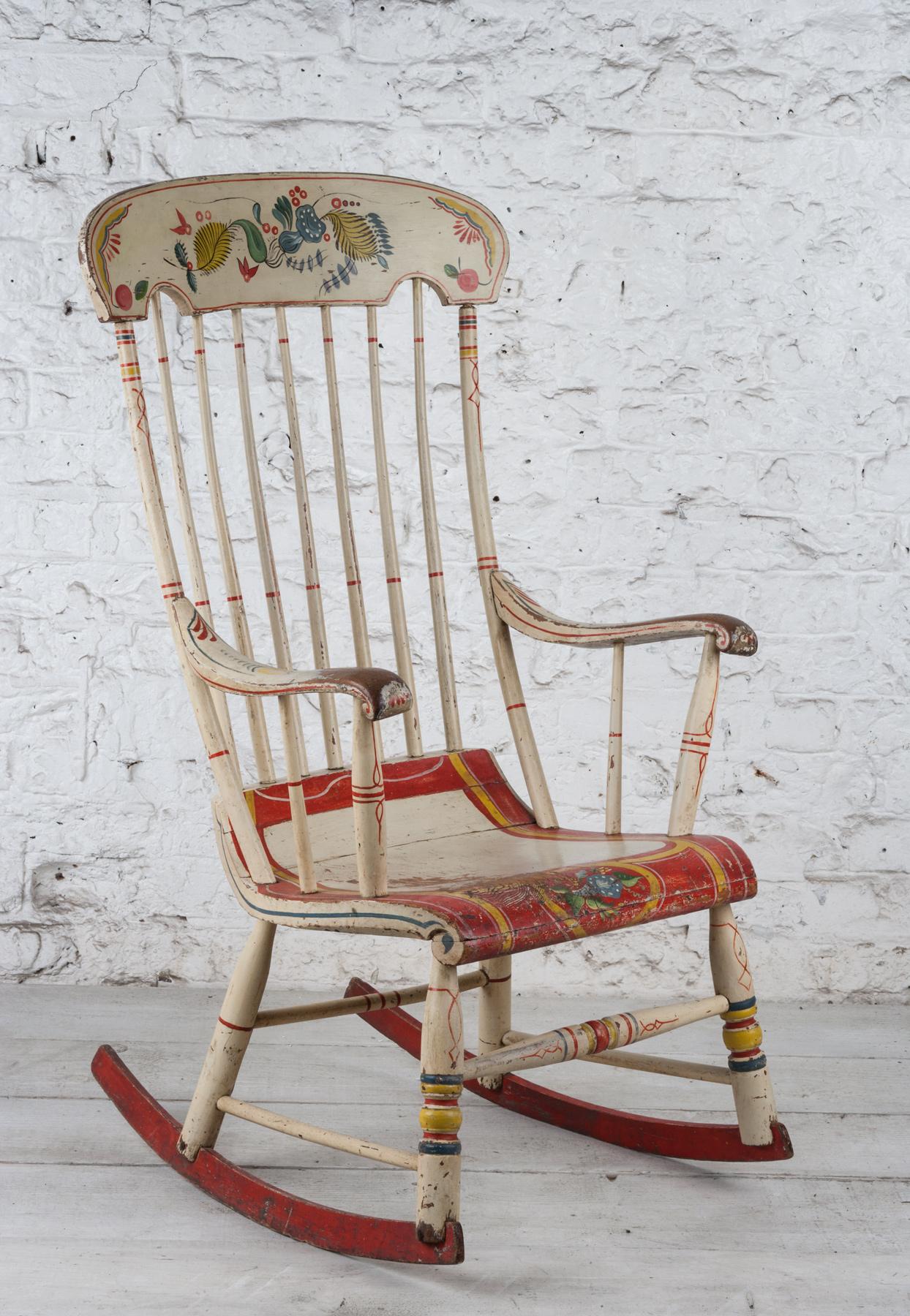An Old American Rocker Walpole Antiques