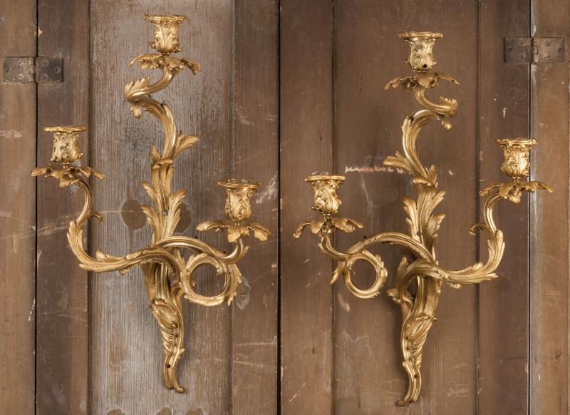 Rococo wall lights walpole antiques aloadofball Gallery
